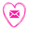 Free email pink heart social media icon