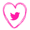 Free twitter pink heart social media icon